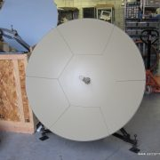 New ViaSat 1.2M Ka-Band manual Flyaway antenna with 25W Ka-Band BUC in transportable case
