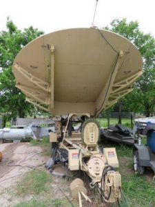 GDSatcom 4.6M Dual-Band (Ka, DBS, Ku, X C-Band) Motorized Transportable Antenna with Trailer