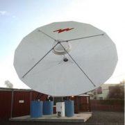 Used Andrew 7.6M 2-Port Ku-Band Tx/Rx Linear Feed Motorized Earth Station Antenna