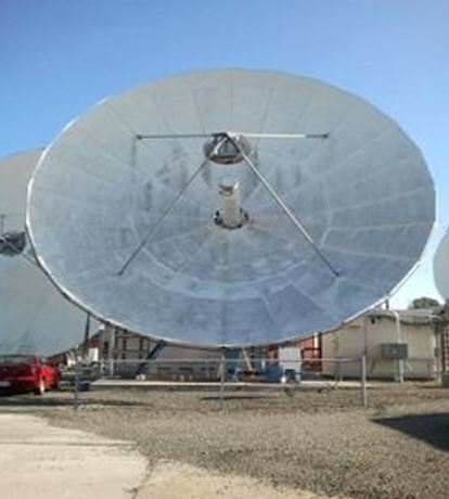 Used Andrew 11.3 M C-Band Tx-Rx Circular Feed Motorized Earth Station Antenna
