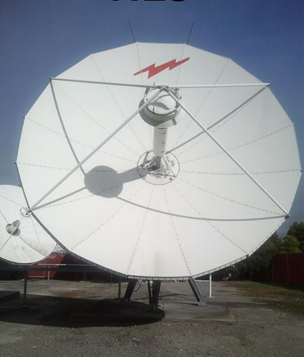 Used Andrew 7.3M 2-Port Ku/2-Port C-Band Linear Rx Only Motorized Earth Station Antenna