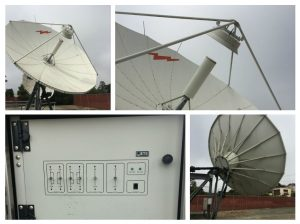 Used Andrew 7.3M C/Ku-Band Linear Rx Only Motorized Earth Station Antenna